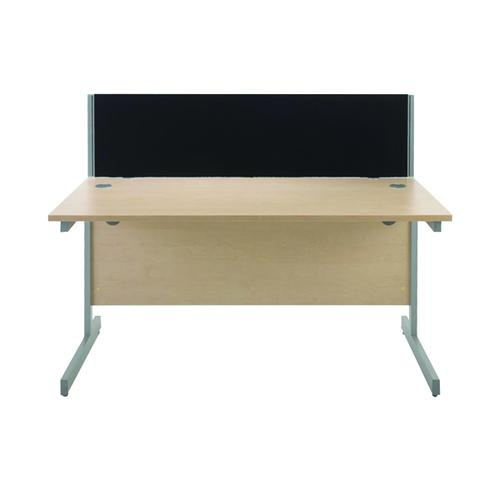JEMINI STRAIGHT BLACK 800MM DESK SCREEN