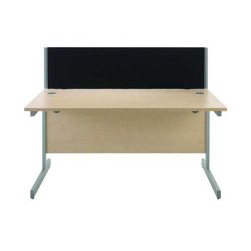 Jemini Black 800mm Straight Desk Screen KF73910