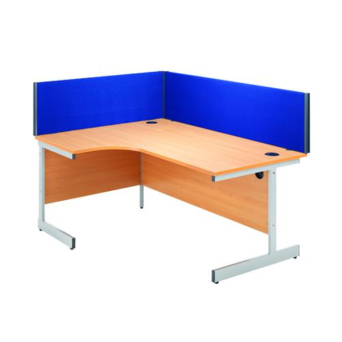 JEMINI STRAIGHT BLUE 800MM DESK SCREEN
