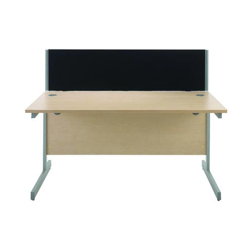 Jemini Black 1200mm Straight Desk Screen (Each screen comes with a pair of clamps) KF73912