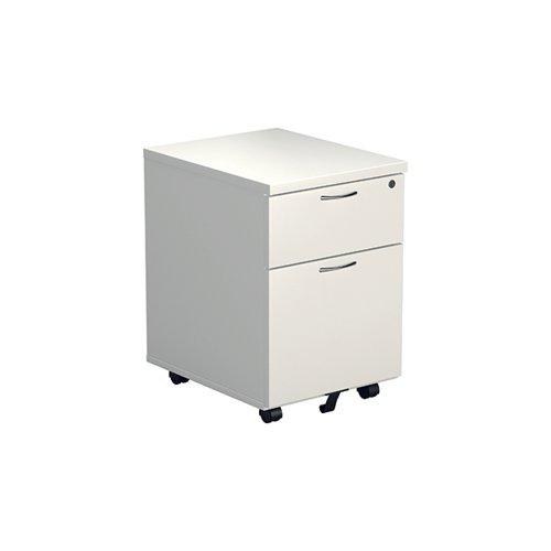 Jemini White 2 Drawer Mobile Pedestal KF74147