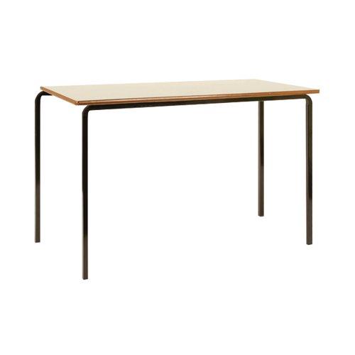 Jemini MDF Edged Class Table W1200 x D600 x H710mm Beech/Black (Pack of 4) KF74553