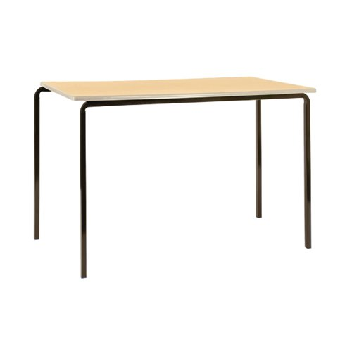 Jemini MDF Edged Class Table W1100 x D550 x H590mm Beech/Silver (Pack of 4) KF74556