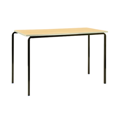 Jemini MDF Edged Class Table W1200 x D600 x H590mm Beech/Silver (Pack of 4) KF74557