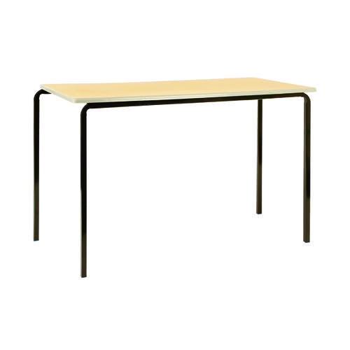 Jemini MDF Edged Class Table W1100 x D550 x H710mm Beech/Silver (Pack of 4) KF74558