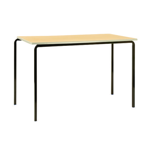 Jemini MDF Edged Class Table W1200 x D600 x H710mm Beech/Silver (Pack of 4) KF74559