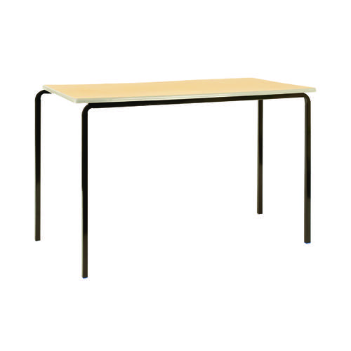 Jemini MDF Edged Class Table W1100 x D550 x H760mm Beech/Silver (Pack of 4) KF74560