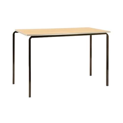 Jemini MDF Edged Class Table W1200 x D600 x H760mm Beech/Silver (Pack of 4) KF74561