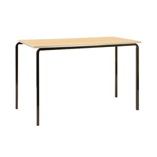 Jemini PU Edged Class Table W1100 x D550 x H590mm Beech/Black (Pack of 4) KF74562