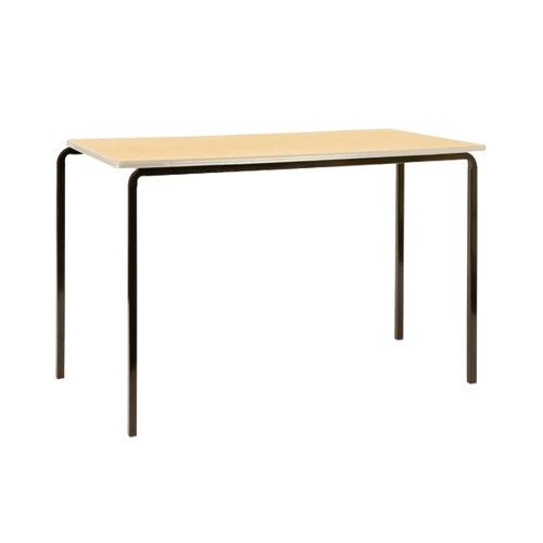 Jemini PU Edged Class Table W1100 x D550 x H710mm Beech/Black (Pack of 4) KF74564