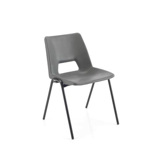 Jemini Polypropylene Stacking Chair 310mm Charcoal KF74991