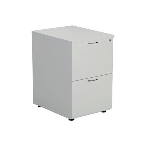 Jemini White 2 Drawer Filing Cabinet KF78666