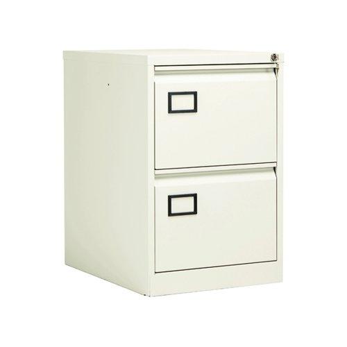 Jemini 2 Drawer Filing Cabinet White KF78706