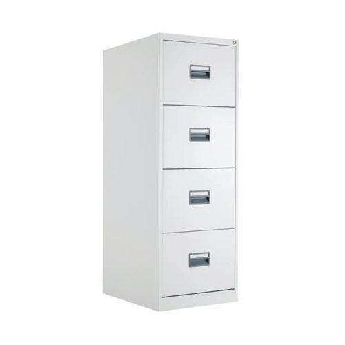 Image for Talos 4 Drawer Filing Cabinet White KF78773