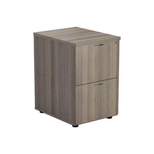 Jemini Grey Oak 2 Drawer Filing Cabinet (Dimensions: W465 x D600 x H710mm) KF78957