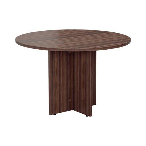 Jemini Walnut Round D1200 Meeting Table (1200mm diameter 730mm height) KF78960