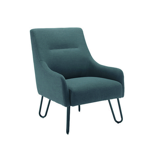 Jemini Grey Reception Armchair