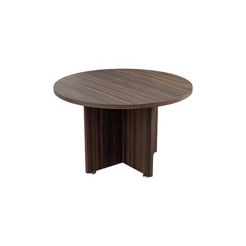 Avior Executive Circular Meeting Table 1200mm Dark Walnut KF821861