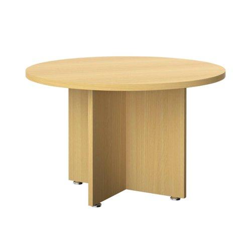 Avior Executive Circular Meeting Table 1200mm Nova Oak KF821878