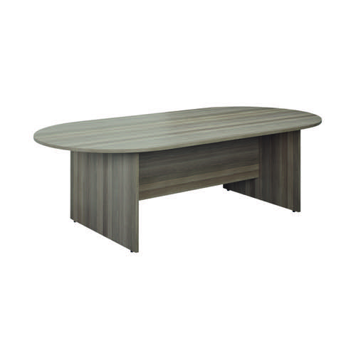 Jemini D-End Meeting Table 1800mm Grey Oak KF822653