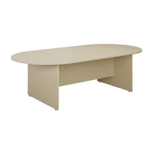 Jemini D-End Meeting Table 1800mm Maple KF822660