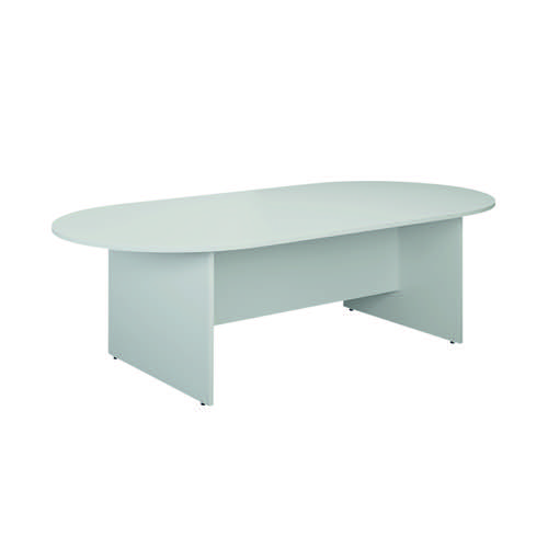 Jemini D-End Meeting Table 1800mm White KF822677