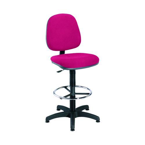 Jemini Medium Back Draughtsman Chair Claret KF838254