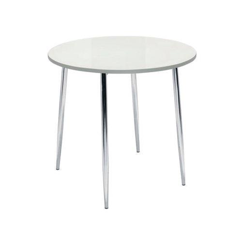 Jemini White/Chrome 800mm Round Bistro Table KF838543