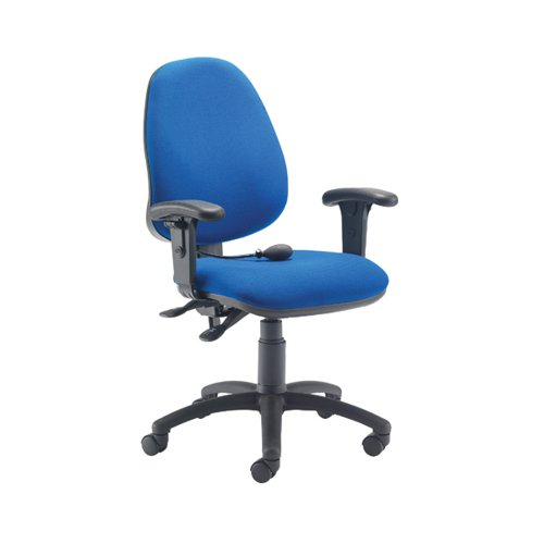 Jemini Intro Posture Chair with Adjustable Arms 640x640x990-1160mm Blue KF838995