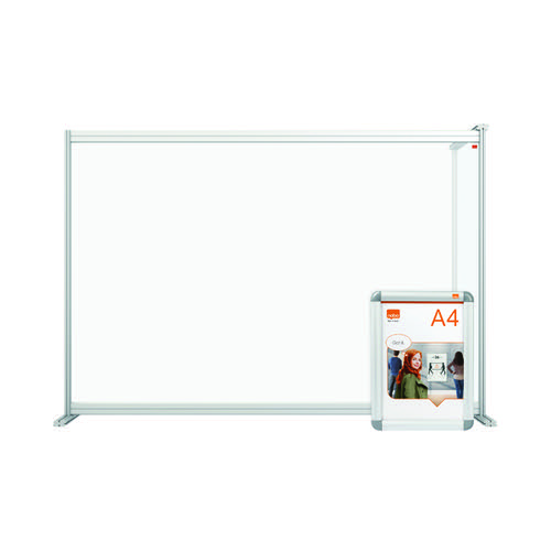 Nobo Premium Plus Desk Divider Extender 1400x1000 Acrylic