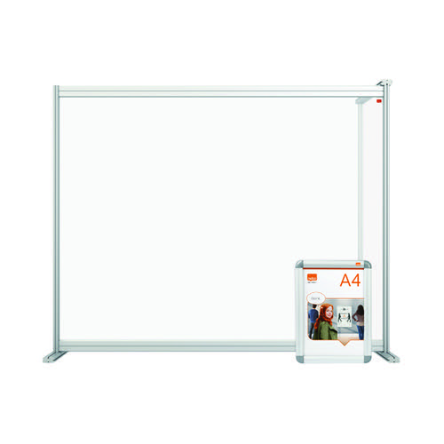 Nobo Premium Plus Desk Divider Extender 1200x1000 Acrylic