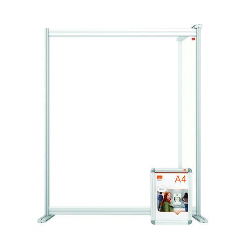Nobo Premium Plus Desk Divider Extender 800x1000 Acrylic