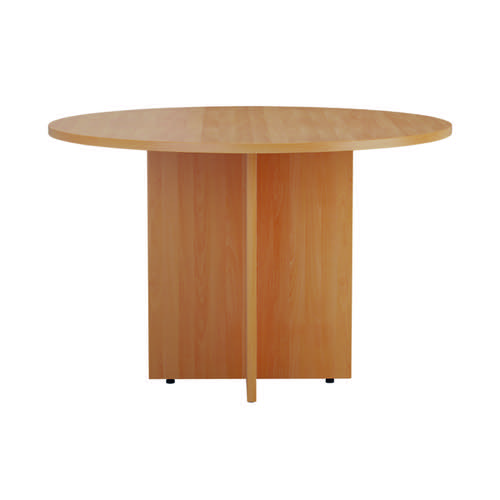 Jemini Round Meeting Table 1100mm Beech KF90685