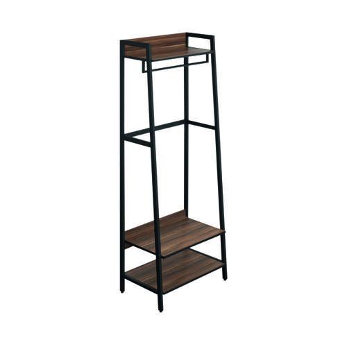 SOHO Coat Stand H1690 with Rail 3 Shelves Walnut/Brown Metal KF90857