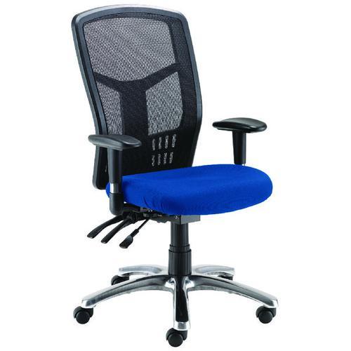 FF Avior 24Hour Hback Mesh Op Chair Blue
