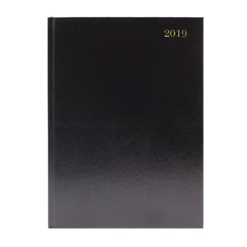 2019 Diary A4 2 Days Per Page Black