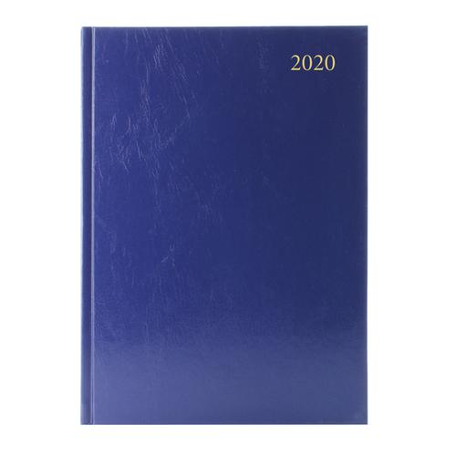 Desk Diary Blue A4 2 Days Per Page 2020 (Reference calender on each page) KFA42BU20