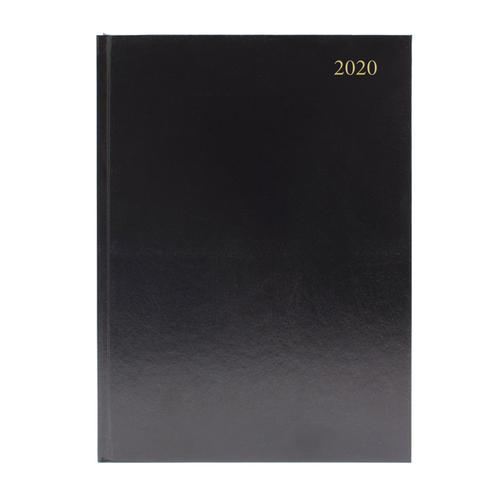 Desk Diary A5 Day Per Page 2020 Black