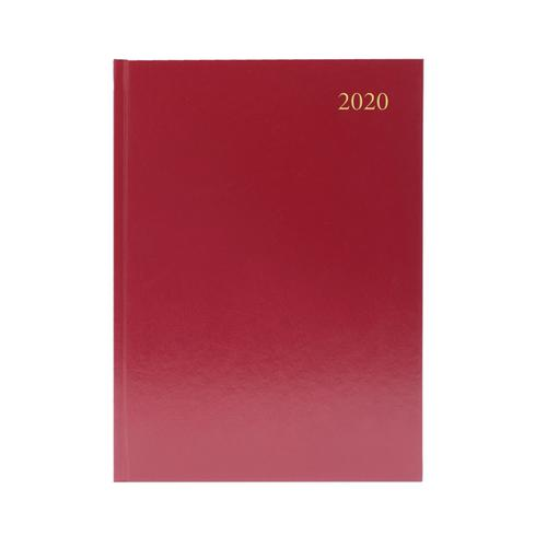 2020 Diary A5 Week To View Burgundy