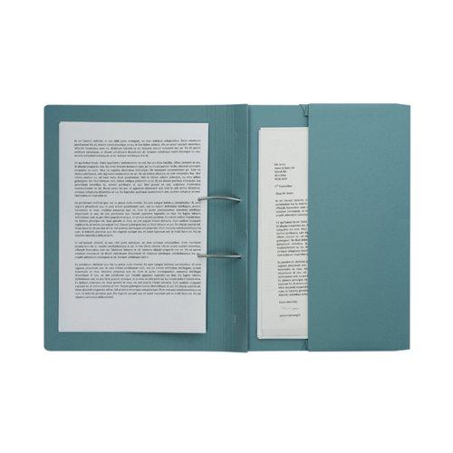 ValueX 285gsm Pocket Spiral File Foolscap Blue (Pack 25)
