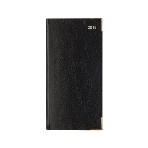 Letts Business Diary Slim Week to View Landscape 2019 Black 19-T35SBK