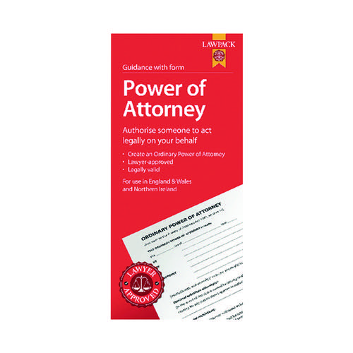 5 x Law Pack Power of Attorney Pack (Lawyer approved for use in England, Wales and NI) F334