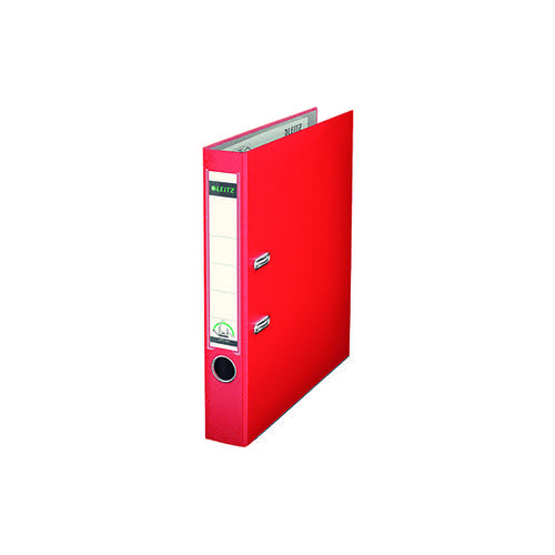 Leitz 180 Lever Arch File Poly 52mm A4 Red (Pack of 10) 10151025