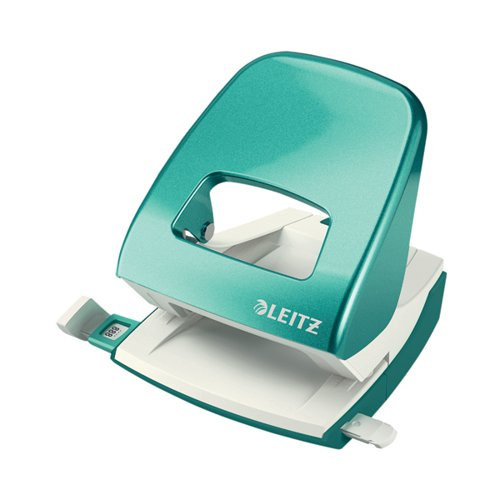 Leitz NeXXt WOW Metal Office Hole Punch 30 sheets Ice Blue 50081051