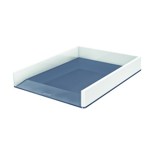 Leitz WOW Letter Tray Dual Colour White/Grey 53611001