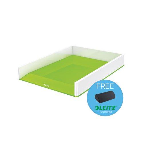 Leitz WOW Letter Tray Dual Colour White/Green