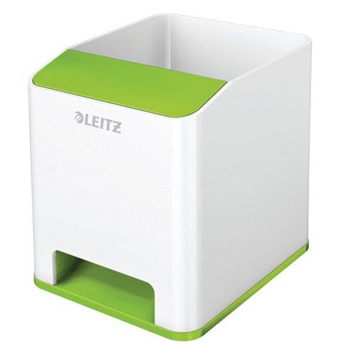Leitz WOW Sound Pen Holder Dual Colour White/Green 53631054