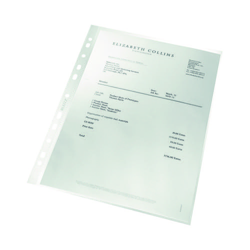 Leitz Recycled Cut Flush Folders Clear A4 (Pack of 100) 4791-10-03