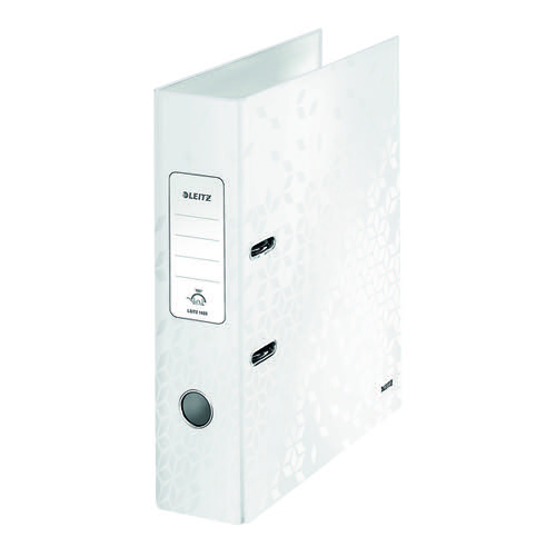 Leitz 180 WOW Lever Arch File A4 80mm White (Pack of 10) 1005001