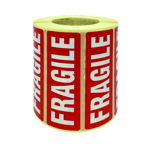 Fragile Parcel Labels 1000 Per Roll MA07624
